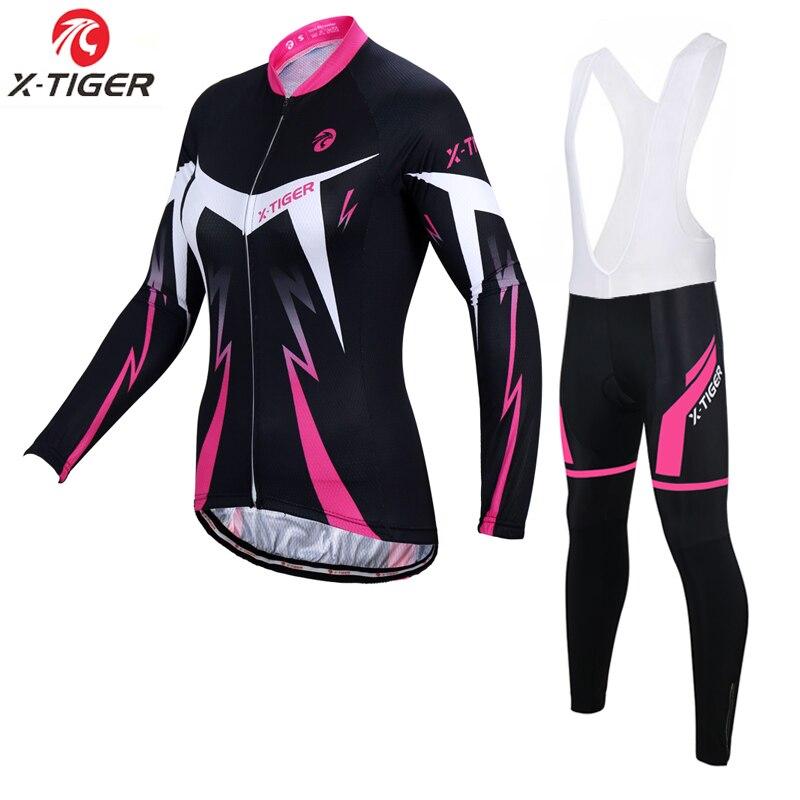 X-Tiger Anti-UV Spring Women Cycling Set 100% Polyester Bicycle Cycling Wear Cycling Bike Clothes Cycling Jersey Set